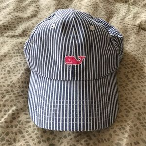 Vineyard Vines Seersucker Baseball Hat